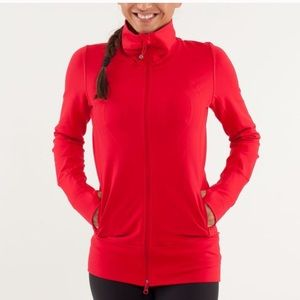 Lululemon In Stride Jacket Currant Red Size 4